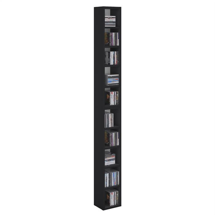 CD / DVD Regal CHART mit 10 Fächern in schwarz