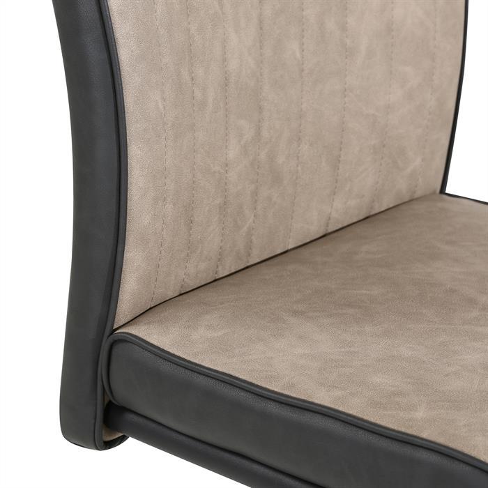 4er Set Esszimmerstühle CRUZ aus Kunstleder in schwarz