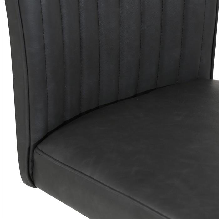 4er Set Esszimmerstuhl ALAMO in Wildlederimitat schwarz