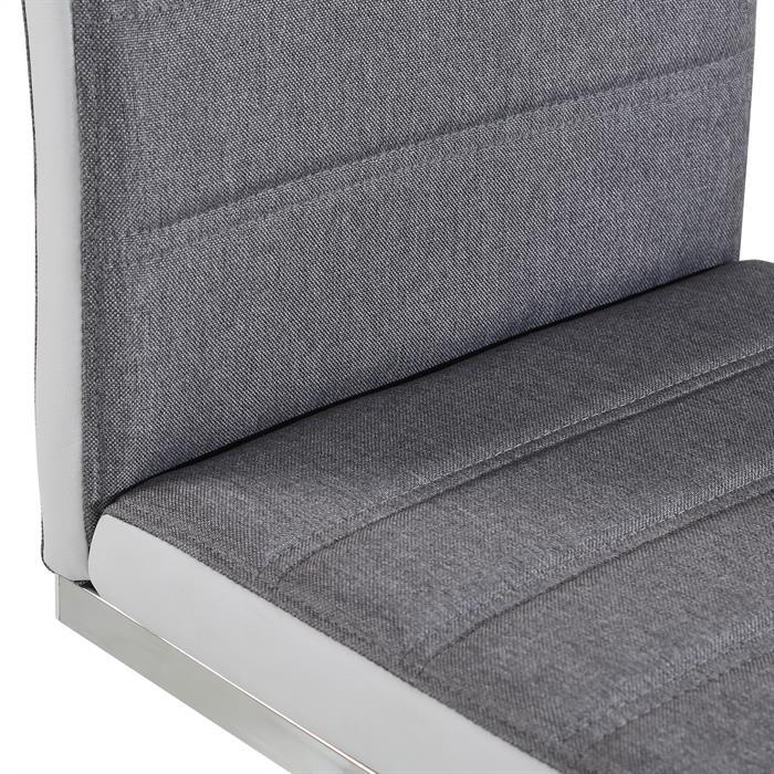 Esszimmerstühle 4er Set MODESTO in grau