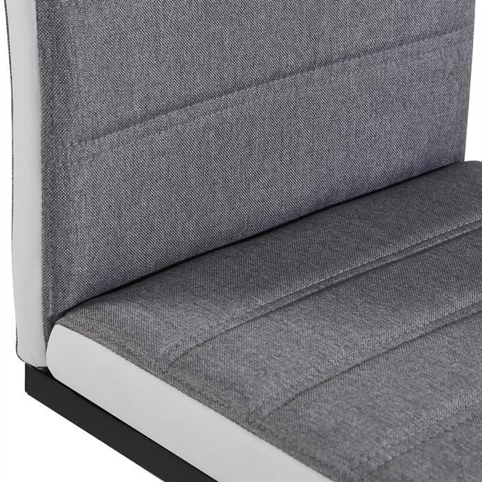Esszimmerstühle SALINAS im 4er Set in grau