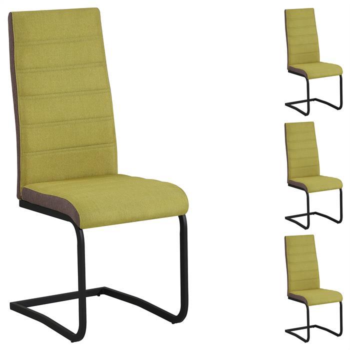 Esszimmerstühle SALINAS im 4er Set in grün