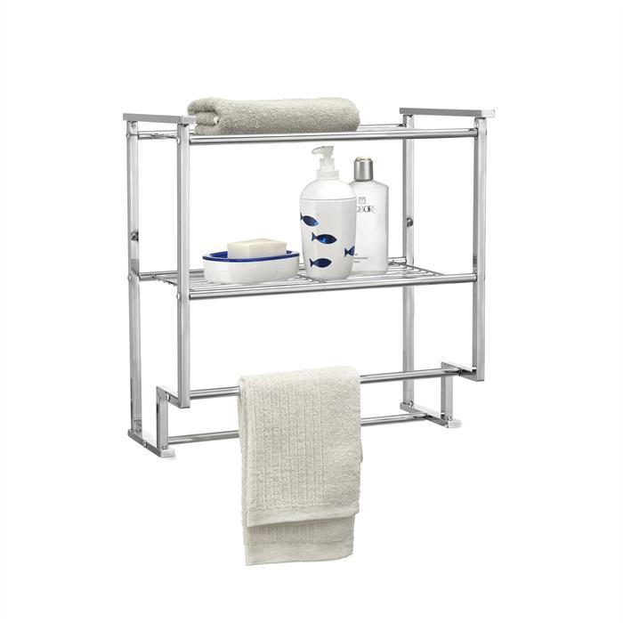 Wand-Handtuchhalter BARIS mit 2 Ablagen