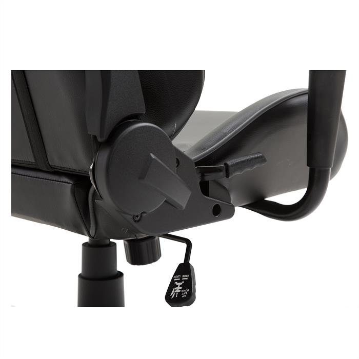 Bürodrehstuhl GAMING in schwarz/grau