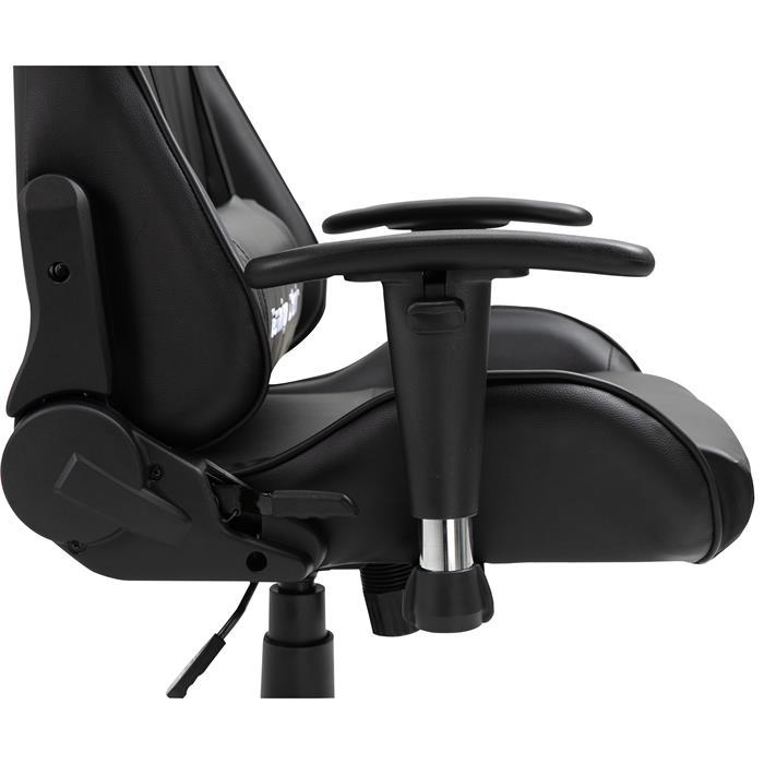 Bürodrehstuhl GAMING in schwarz/schwarz