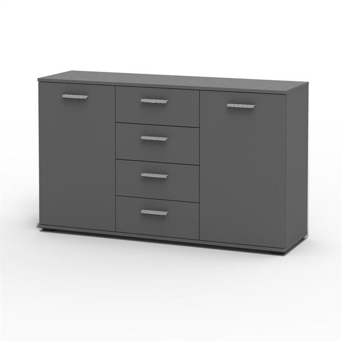 kommode chicago in grau 4 schubladen caro m bel. Black Bedroom Furniture Sets. Home Design Ideas