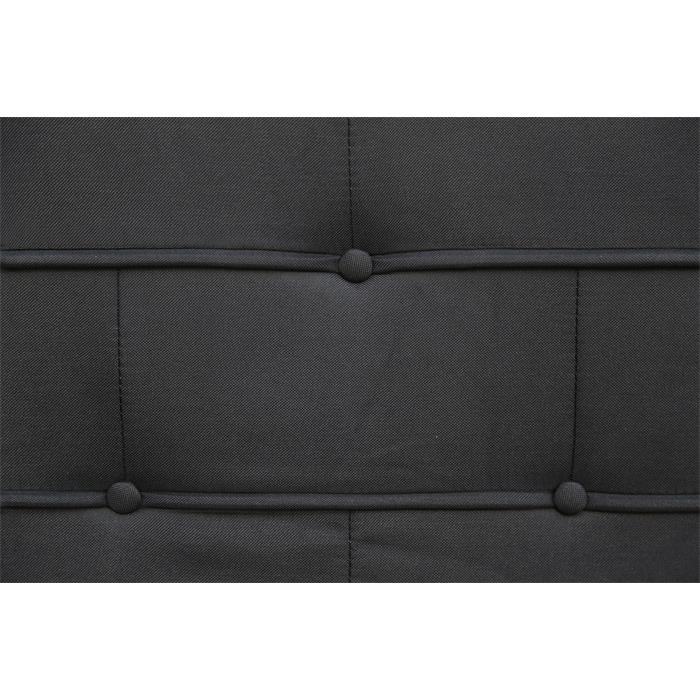 Polsterbett LAREDO 120x200cm in schwarz