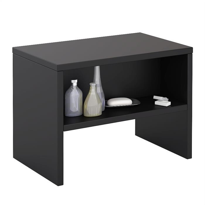 Nachttisch NEY mit offenem Fach in schwarz