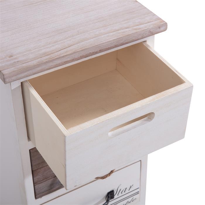 Schubladenregal SALVA in weiß mit 4 Schubladen