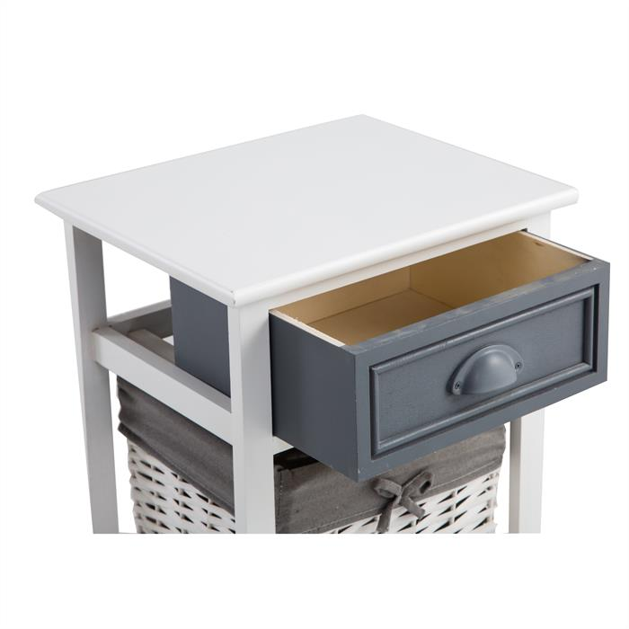 Nachttisch FLORENZ weiß mit 1 Schublade
