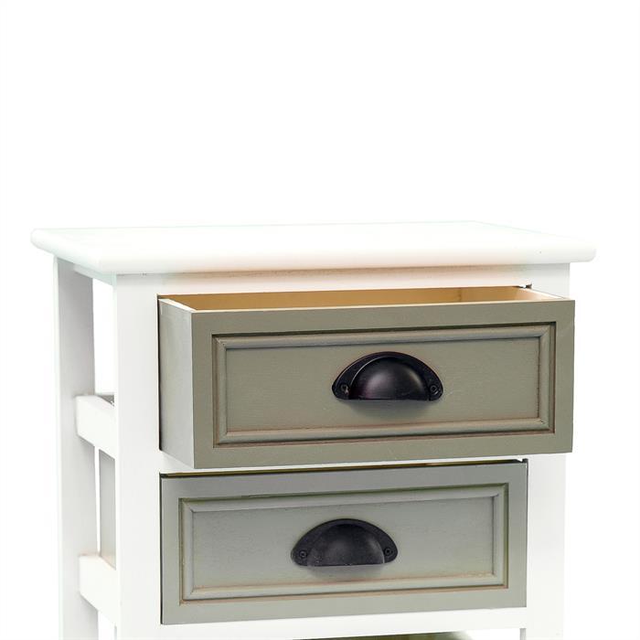 Nachttisch TOSCANA weiß mit 2 Schubladen