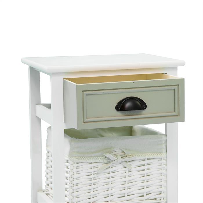 Nachttisch TOSCANA weiß mit Schublade