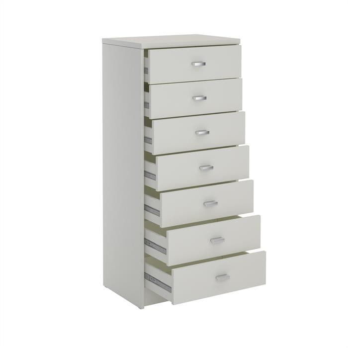 Schubladenkommode FEHMARN mit 7 Schubladen in weiß