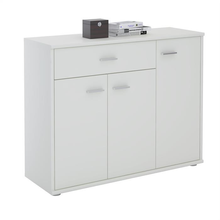 Kommode ESTELLE mit 3 Türen, 1 Schublade in weiß