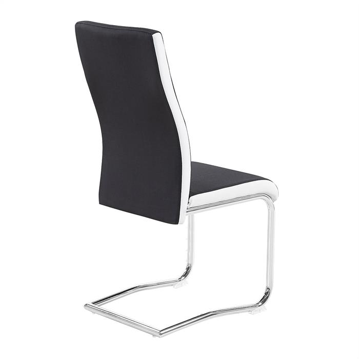 4er Set Esszimmerstuhl ALBA in schwarz-weiß