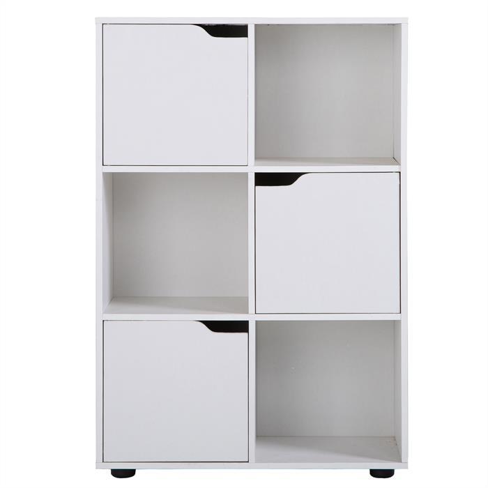 Bücherregal VERMONT in weiß, 6 Fächer