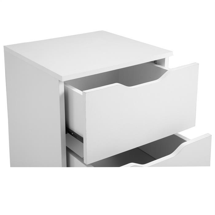 Nachttisch NEPTUN weiß mit 3 Schubladen