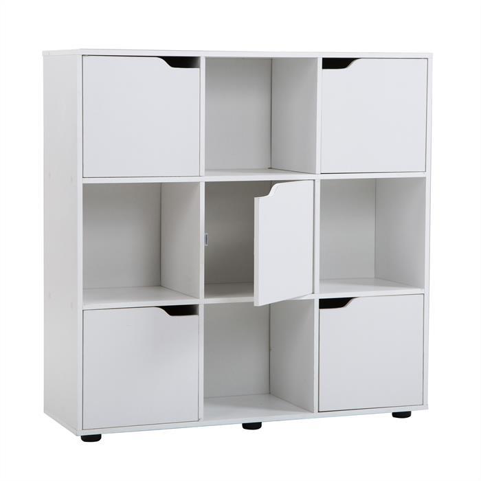 Bücherregal VERMONT 9 Fächer in weiß