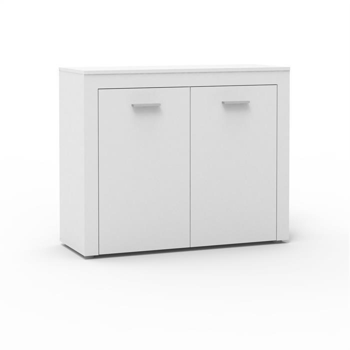 Kommode RAY 110 cm mit 2 Türen in weiß