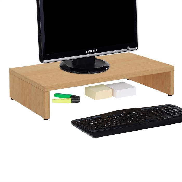 Bildschirmaufsatz MONITOR in buchefarben 50 cm breit