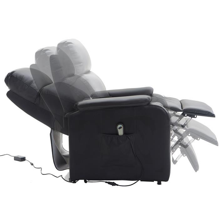 Fernsehsessel SENIOR mit Aufstehfunktion in schwarz