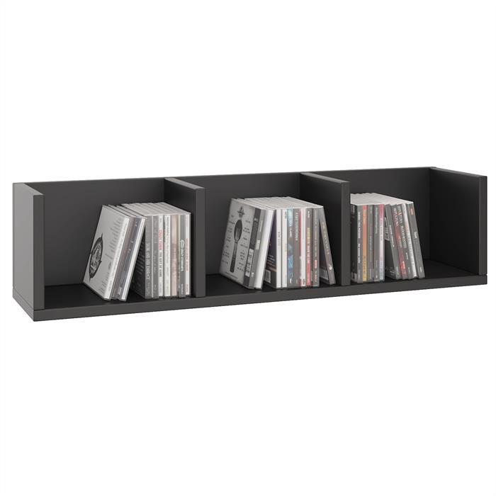 CD/DVD-Regal STARS mit 3 Fächern in schwarz
