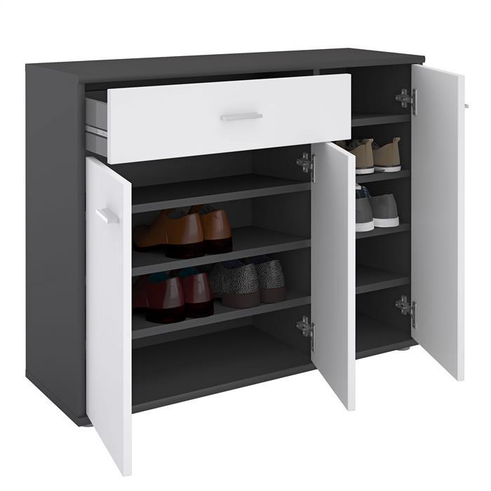 schuhschrank deusto in grau wei caro m bel. Black Bedroom Furniture Sets. Home Design Ideas