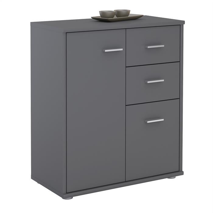 Kommode LOCARNO 2 Türen, 2 Schubladen in grau