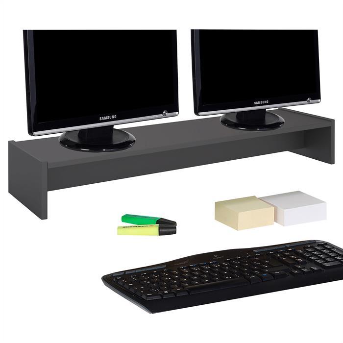 Monitoraufsatz ZOOM 100 x 15 x 27 cm in grau