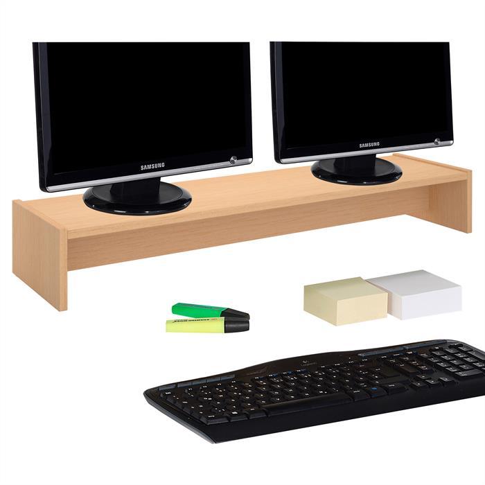 Monitoraufsatz ZOOM 100 x 15 x 27 cm in buchefarben