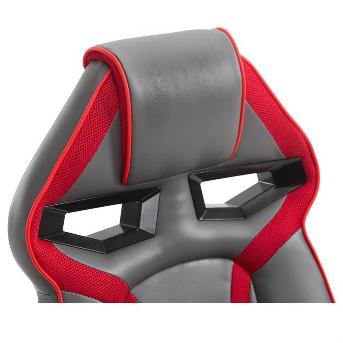 Bürodrehstuhl CONTEST in grau/rot