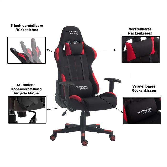 Gaming Drehstuhl SWIFT in schwarz/rot