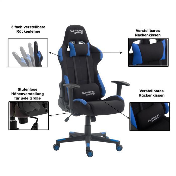 Gaming Drehstuhl SWIFT in schwarz/blau