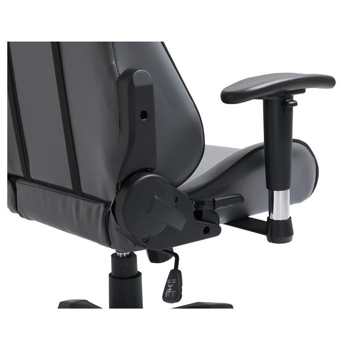 Bürodrehstuhl GAMING in grau/schwarz