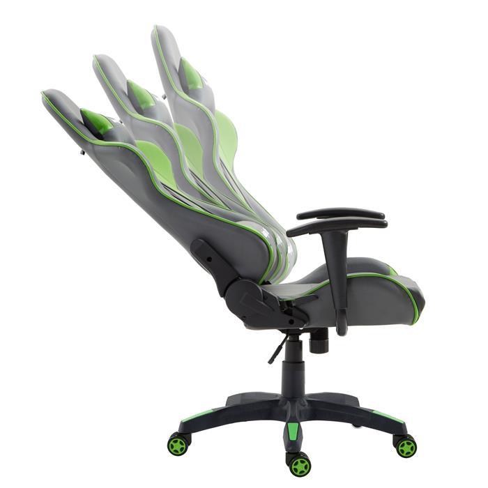 Bürodrehstuhl GAMING in grau/grün