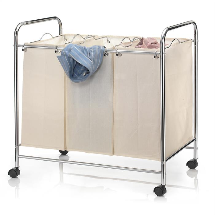 Wäschewagen KATJA mit 3 Fächern auf Rollen