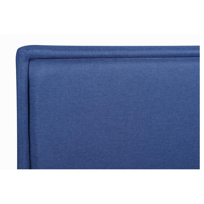 Polsterbett ANAIS 140x200 cm inkl. Lattenrost in blau