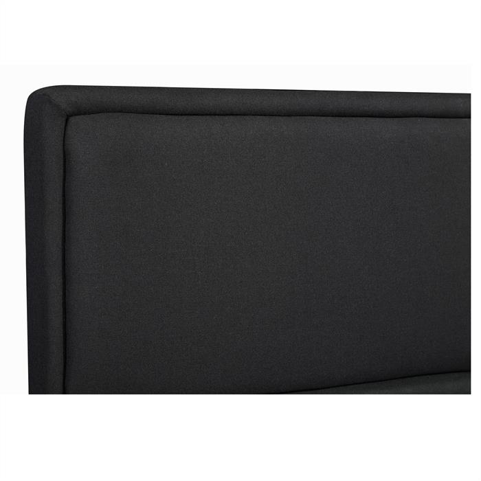 Polsterbett ANAIS 120x200 cm, inkl. Lattenrost, schwarz