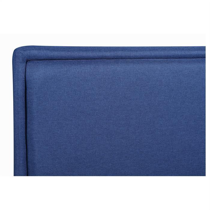 Polsterbett ANAIS 120x200 cm, inkl. Lattenrost in blau