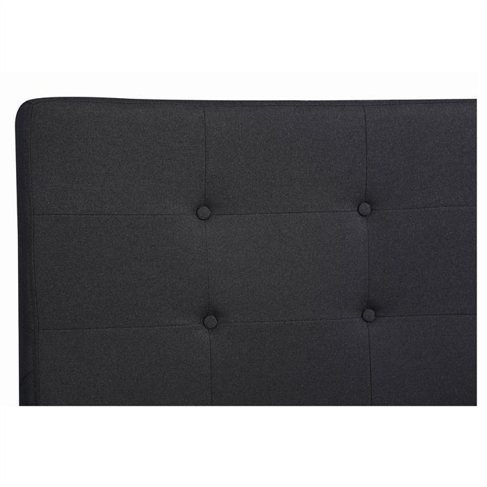 Polsterbett ADELE 120x200 cm, inkl. Lattenrahmen, schwarz