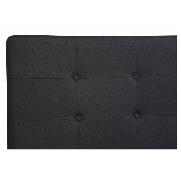Polsterbett ADELE 140x200 cm, inkl. Lattenrost, schwarz