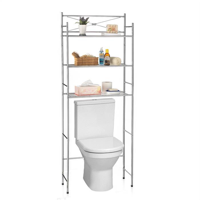Toiletten Waschmaschinen Regal MARSA mit 3 Ablagen in chrom