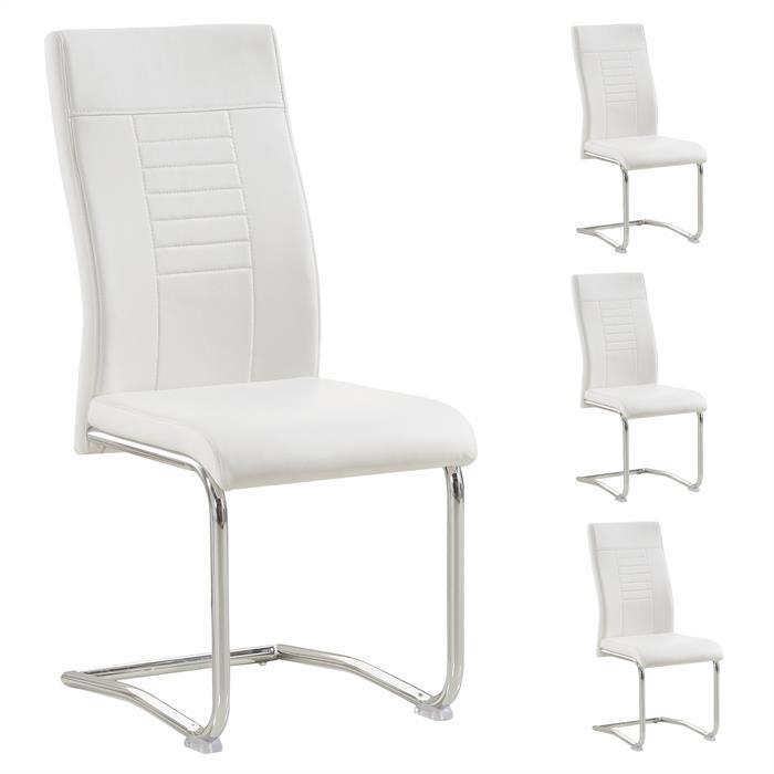 4er Esszimmerstuhl Set LOANO in weiß