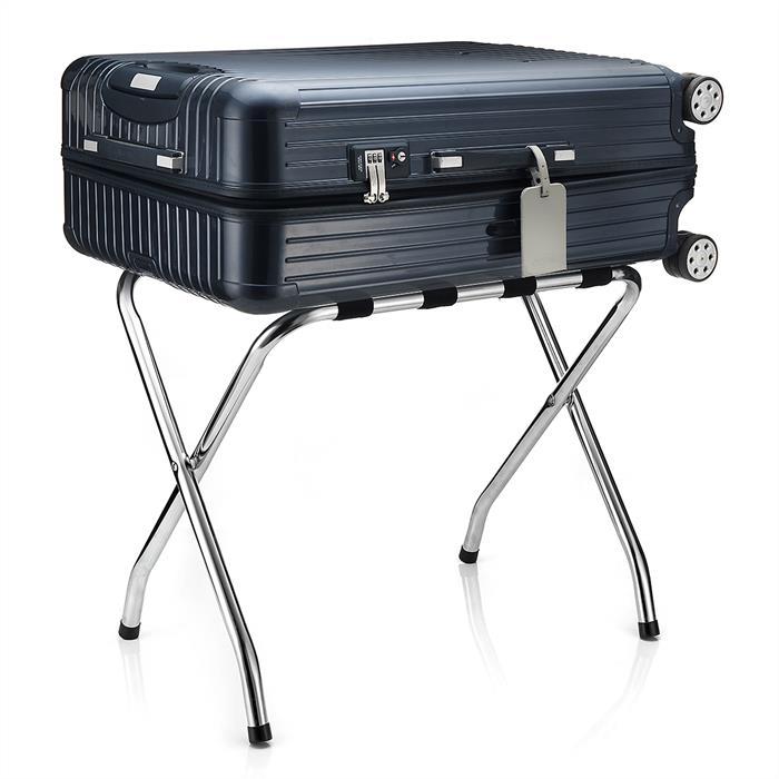 Kofferständer LUGGAGE Metall chrom, klappbar