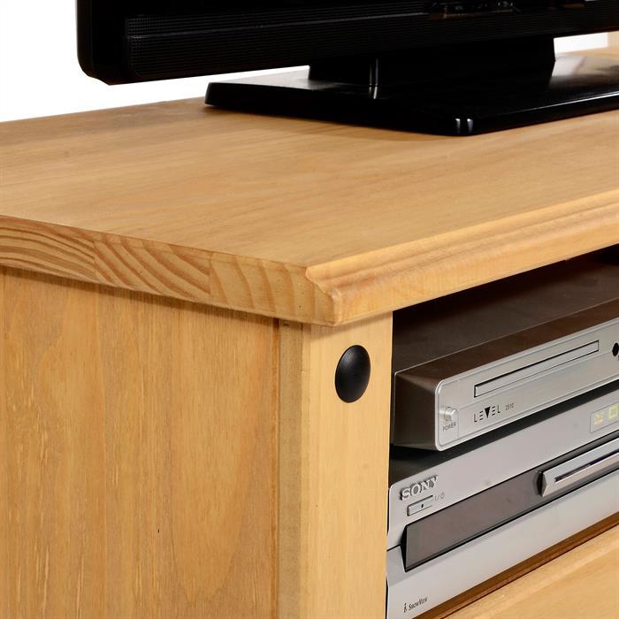 TV Lowboard SALSA Kiefer massiv mit 2 Schubladen