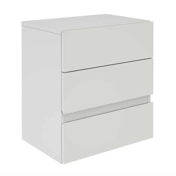 Hängeregal Nachtschrank ANNO mit 3 Schubladen in weiß
