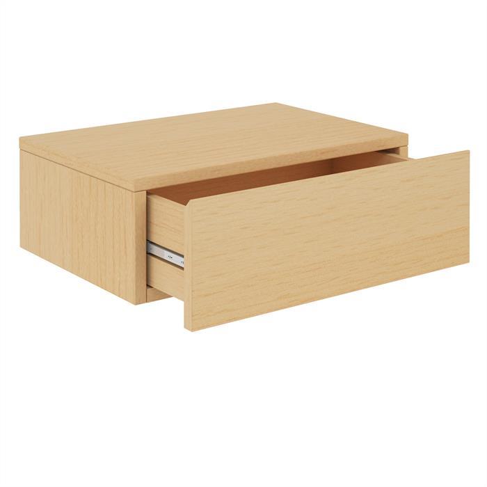 Hängende Nachtkommode ANNE 1 Schublade, buchefarben