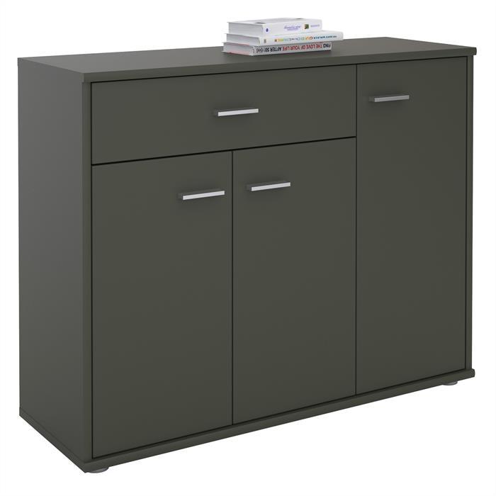 Kommode ESTELLE mit 3 Türen, 1 Schublade in grau
