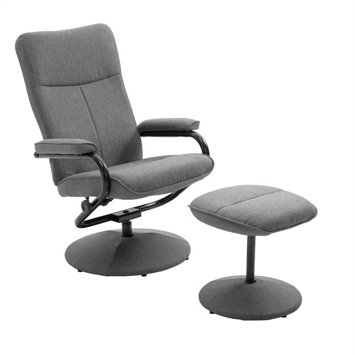 relaxsessel dakota mit hocker in grau caro m bel On relaxsessel mit hocker grau