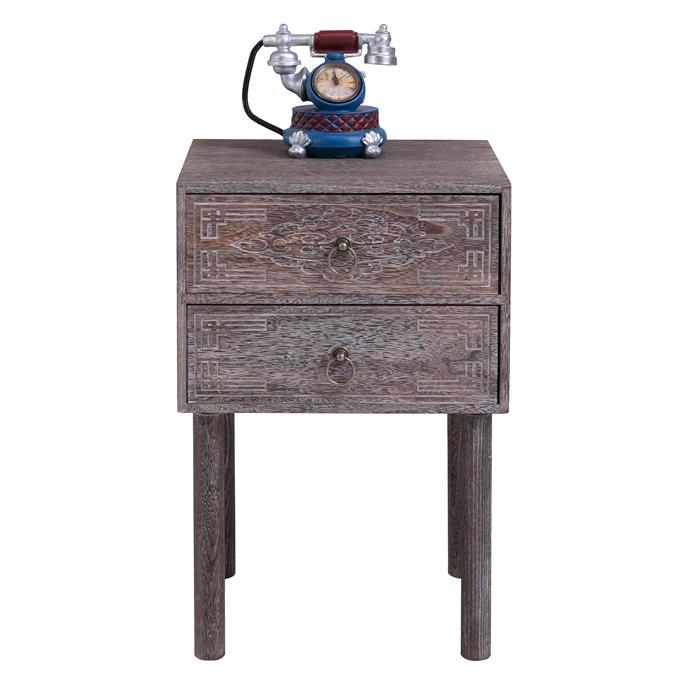 nachttisch carlo grau mit 2 schubladen f r boxspringbett caro m bel. Black Bedroom Furniture Sets. Home Design Ideas